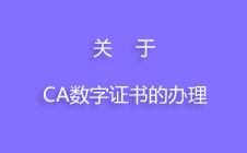 关于CA数字证书的办理